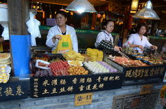 Chinese street food stands Royalty Free Stock Images