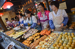 Chinese street food stands Stock Photos