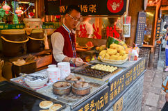 Chinese street food stands Stock Images