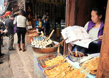 Chinese Street Food Vendor Stock Images