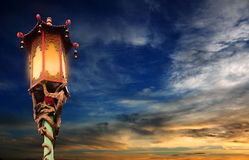 Chinese street lamp. – Chinatown in San Francisco royalty free stock photography