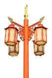 Chinese street lamp isolated Royalty Free Stock Image