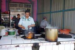 Chinese Street Muslim restaurants Royalty Free Stock Photography