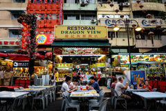 Chinese street restaurant Royalty Free Stock Image