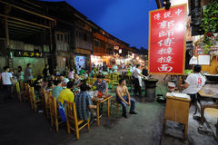 Chinese Street restaurants Stock Image