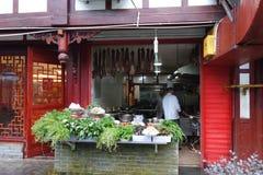 Chinese Street restaurants Royalty Free Stock Photos