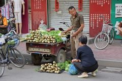 Chinese street seller Royalty Free Stock Photos