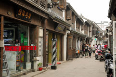 Chinese street in Shanghai China stock photos