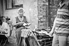 Chinese street woman Stock Images