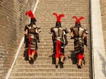 Chinese Strijders weg aan het Werk Stock Afbeeldingen