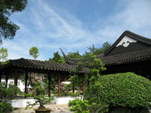 Chinese structure building. A distinctly chinese look and feel garden setting Royalty Free Stock Photography