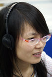 Chinese student. The chinese student with the glasses Stock Image