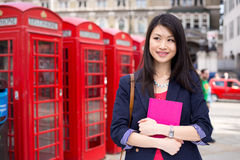 Chinese student in London Royalty Free Stock Photos