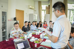 Chinese student during the presentation Royalty Free Stock Photography