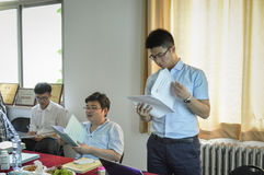 Chinese student during the presentation 3 Stock Images