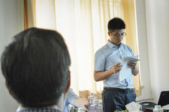 Chinese student during the presentation 4 Royalty Free Stock Image