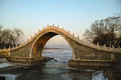 Chinese style arch bridge. In Summer Palace Royalty Free Stock Photos