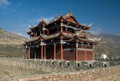 Chinese-style architecture. In Songpan,China Stock Images