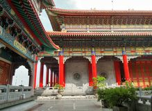 Chinese style architecture  and garden of Dragon Temple Royalty Free Stock Photo