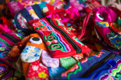 Chinese style bag. Colorful chinese style handwork bag Royalty Free Stock Photos