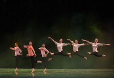 Chinese style Ballet dance. June 10, 2015, the Jiangxi Vocational Academy of Art dance show performance Stock Images