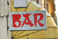 Chinese style bar sign Royalty Free Stock Image