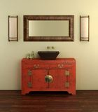 Chinese style bathroom interior Royalty Free Stock Photography