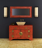 Chinese style bathroom interior Stock Photo