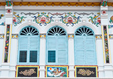 Chinese style beautiful windows in Phuket Stock Photo