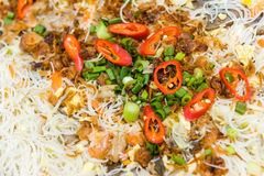 Chinese style bee hoon noodles Stock Images