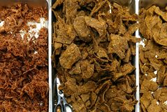 Chinese Style Beef and Pork Jerky Stock Photography