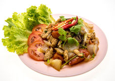 Chinese style Black pepper chilli chicken  on plate. Stock Images