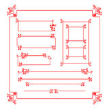 Chinese style border decoration element for design vector Royalty Free Stock Photo