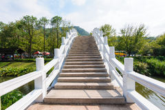 Chinese style bridge under the blue sky Royalty Free Stock Images