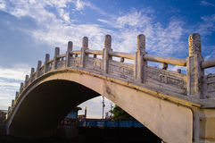 Chinese style bridge under the blue sky Royalty Free Stock Image