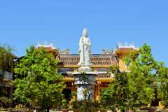 Chinese style Buddhist pagoda temple in Hoi An Stock Image
