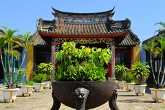 Chinese style Buddhist pagoda temple in Hoi An Royalty Free Stock Images