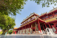 Chinese Style building. In bang pa-in Palace royalty free stock photo