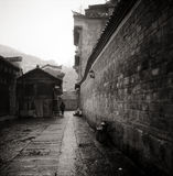 Chinese style building. It is a chinese style building. B&W style Stock Photography