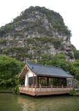 Chinese style building beside a lake , Guilin, China royalty free stock photo
