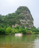 Chinese style building beside a lake , Guilin, China stock photos