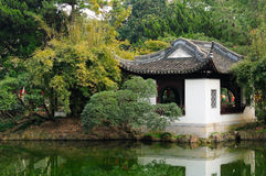 Chinese style building near water Stock Photo