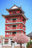 Chinese style building red wood Stock Image