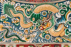 Chinese style ceramic dragon. Image Royalty Free Stock Photo