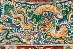 Chinese style ceramic dragon Royalty Free Stock Photo