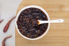 Chinese style chili sauce Stock Photography