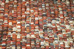 Chinese-style colorful roof tiles Royalty Free Stock Image