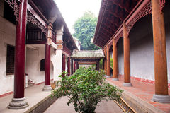 Chinese style corridor Royalty Free Stock Photos