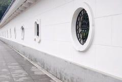 Chinese style courtyard wall . Stock Photo