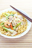 Chinese style deep fried yellow noodles Stock Images